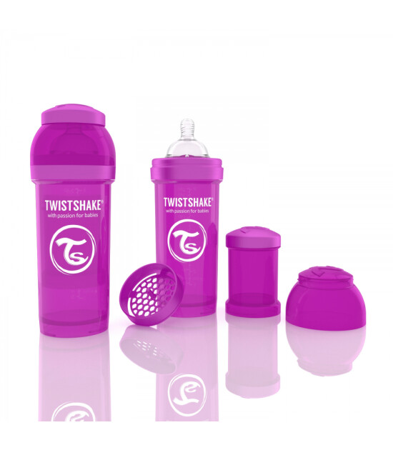 TwistShake Anti-Colic Mor Biberon (260 ml)