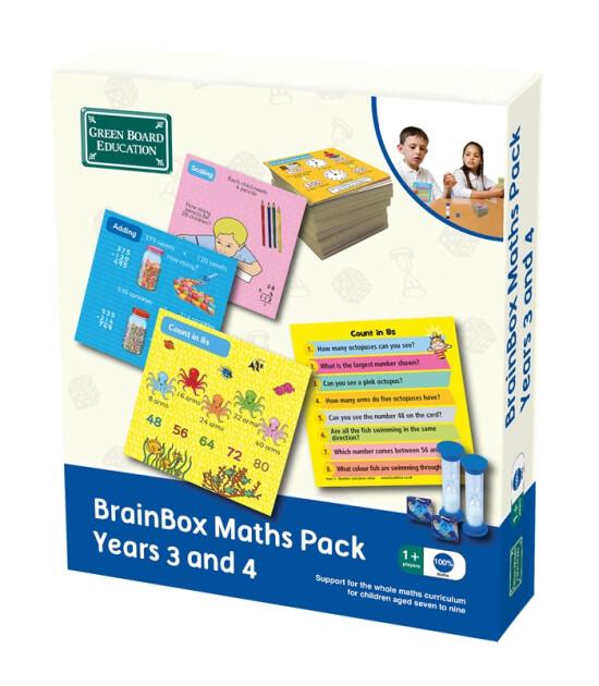 Green Board Games BrainBox Matematik Paketi 3-4 (Maths Pack Years 3 and 4)