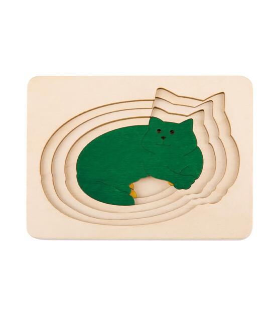 Hape Five Cats Katmanlı Ahşap Puzzle