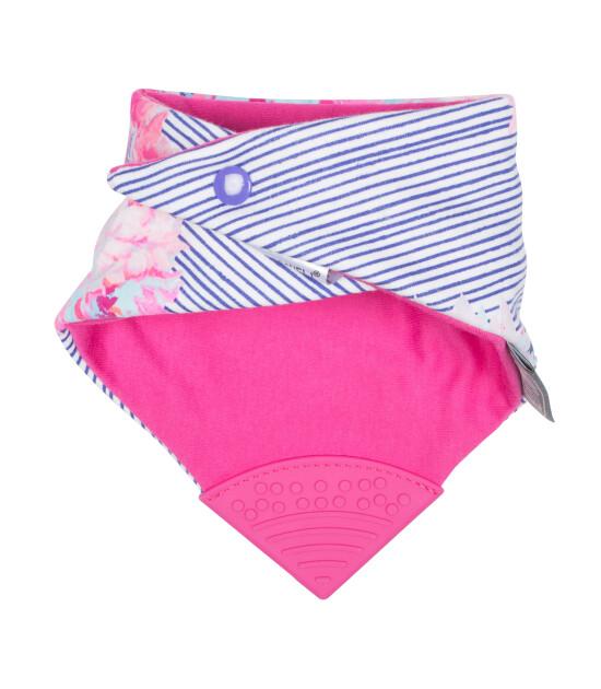 Cheeky Chompers Diş Kaşıyıcılı Fular Önlük (Joules Flower & Stripe)