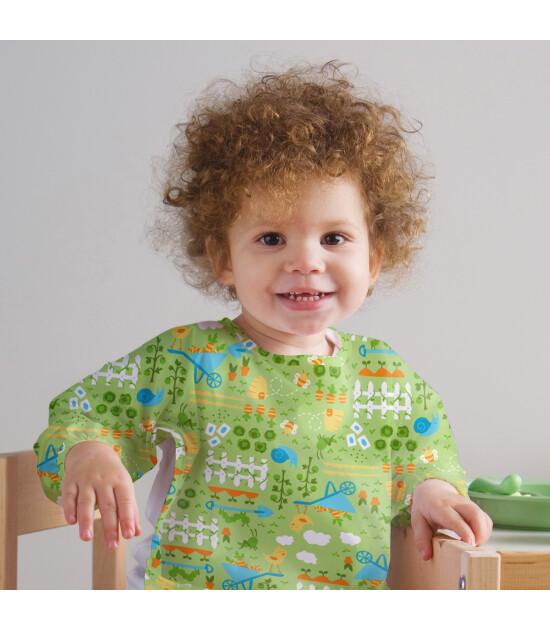 i Play Sızdırmaz Kollu Giyilebilen Bebek Mama ve Aktivite Önlük (Yeşil)