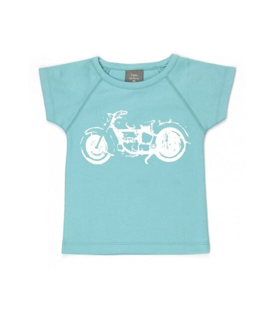 Kate Quinn Organics %100 Organik Kısa Kollu Tişört (Turquoise)