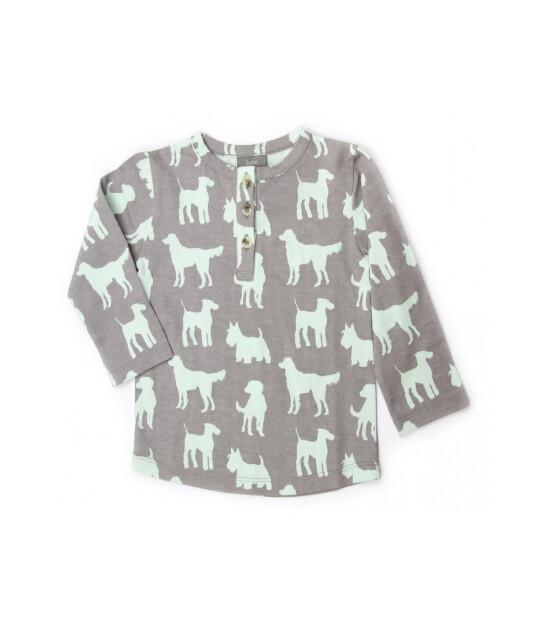 Kate Quinn Organics %100 Organik Uzun Kollu Tişört (Dogs)
