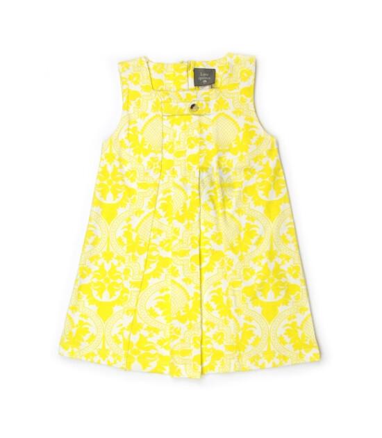 Kate Quinn Organics %100 Organik Pileli Jumper Elbise (Folk Floral)