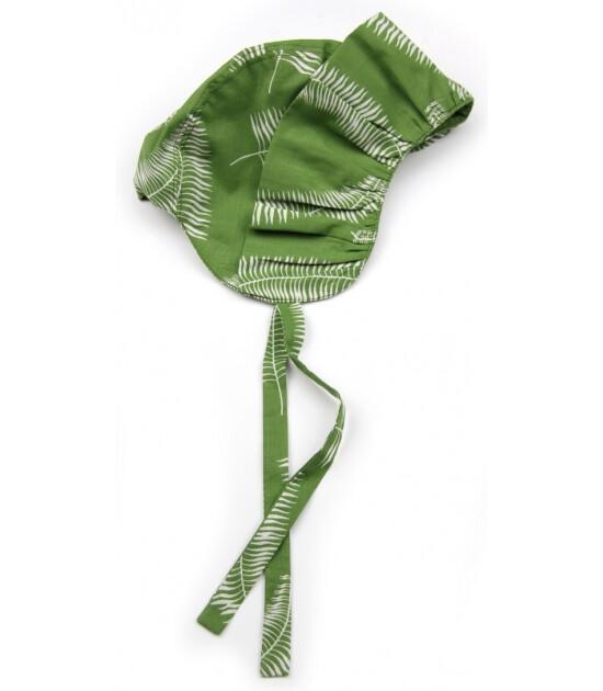 Kate Quinn Organics %100 Organik Fırfırlı Bone Şapka (Fern)
