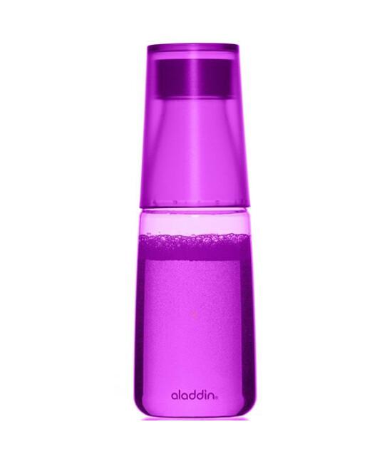 Aladdin Crave Bardaklı Su Matarası 0,5 Lt (Mor)