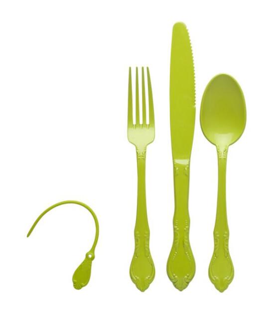Aladdin Çatal Bıçak Kaşık Yemek Set (Yeşil)