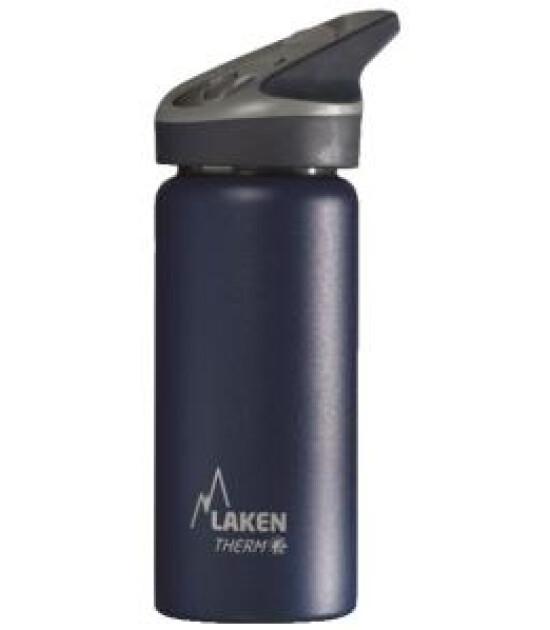 Laken Jannu Çelik Termos Pipetli Suluk (0.5L) // Lacivert