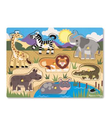 Melissa & Doug Ahşap Tutmalı Yapboz - Safari (Yeni)