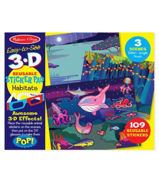 Melissa & Doug 3D Tak Çıkar Çıkartma Kitabı - Hayvanlar