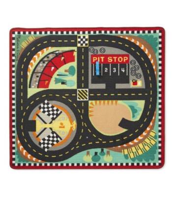 Melissa & Doug Oyun Halı Seti - Yarış Arabaları