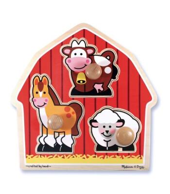 Melissa & Doug Ahşap İlk Yapbozum - Çiftlik hayvanları