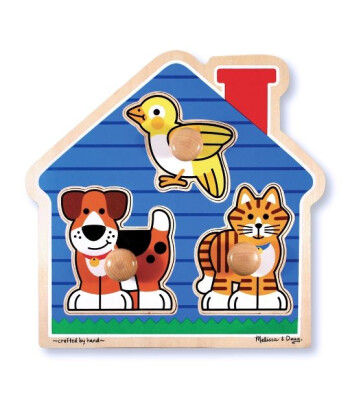 Melissa & Doug Ahşap İlk Yapbozum - Evcil hayvanlar