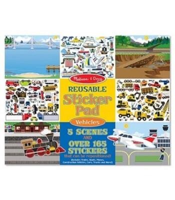 Melissa & Doug Tak Çıkar Çıkartma Kitabı - Araçlar