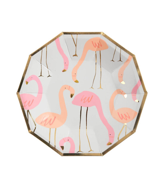 Meri Meri Flamingo Tabak (S) (8'li)