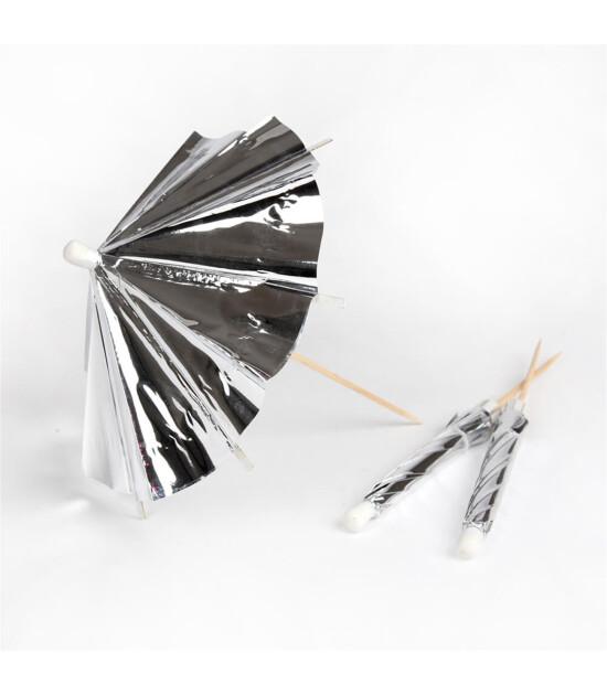 Meri Meri Gümüş Uzun Kokteyl Şemsiyeleri