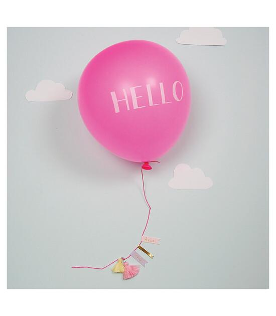 Meri Meri Kız Hello Baby Balon Tebrik Kartı