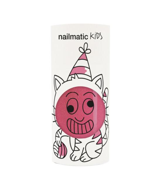 Nailmatic Su Bazlı Çocuk Tırnak Cilası // Kitty (Simli Pembe)