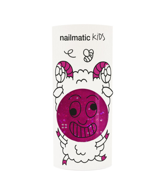 Nailmatic Su Bazlı Çocuk Tırnak Cilası // Sheepy (Simli Frambuaz)