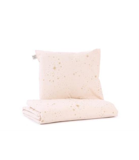 Nobodinoz Himalaya Çocuk Yatak Nevresim Takımı Gold Stella/Dream Pink