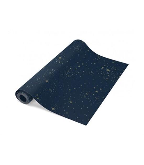 Nobodinoz Duvar Kağıdı Gold Stella/Night Blue